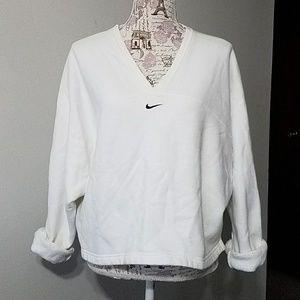 Vintage Nike white crop relax sweatshirt